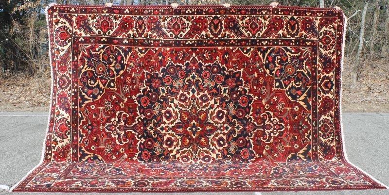 "10'x12'5"" semi-antique Persian Bahktiari Oriental rm si"