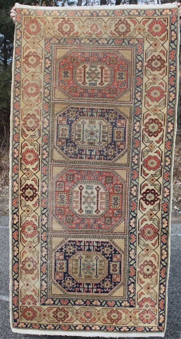 3'x6' semi-antique Persian Sivas Oriental area rug