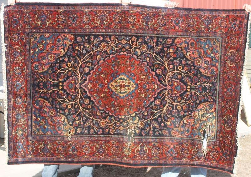 """4'6""""x6'8"""" antique Persian Bidjar Oriental area rug (exc"""