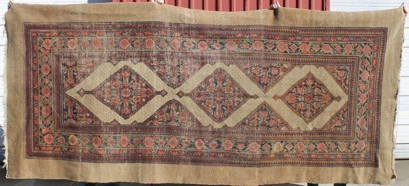 "5'x11'3"" antique Serab Oriental rm size rug on rare cam"