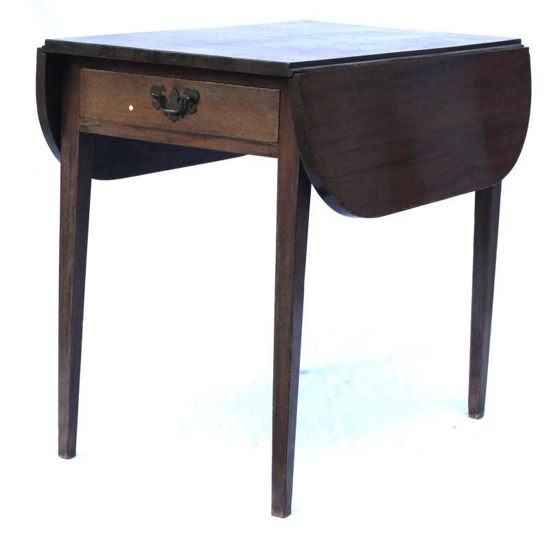 period Hepplewhite ca 1790-1805 CT cherry 1 drawer drop