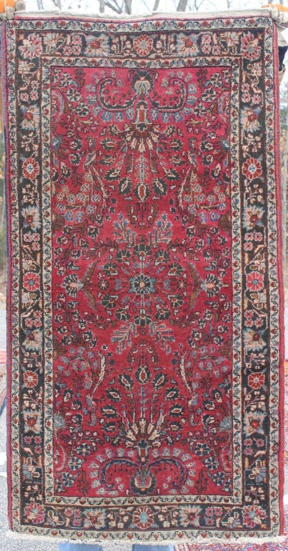 "2'8""x5' antique Persian Kashan Oriental area rug"