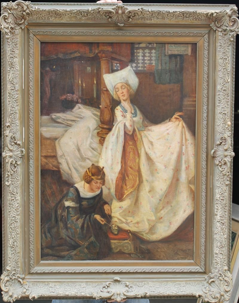 """Mary Ethel Young Hunter (1872-1947) 28 1/4"""" x 20"""" o/c """""""