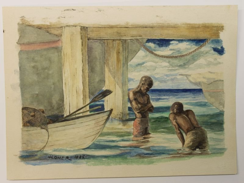 From our important Winslow Homer 21 pc collection - an