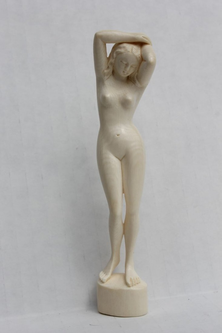 "Chinese carved ivory figure of a nude women - 5"" tall"