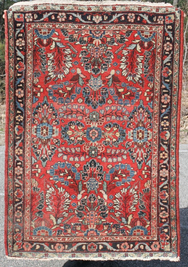 "3'5""x5' semi-antique Persian Hamadan Oriental area rug"