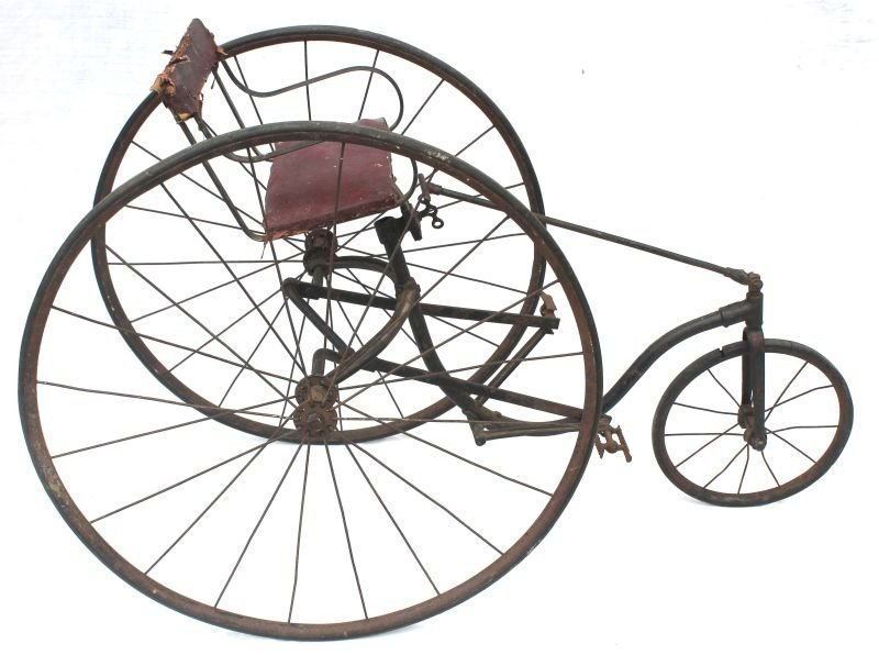 very early ca 1830-1850 rare child's size velocipede (p