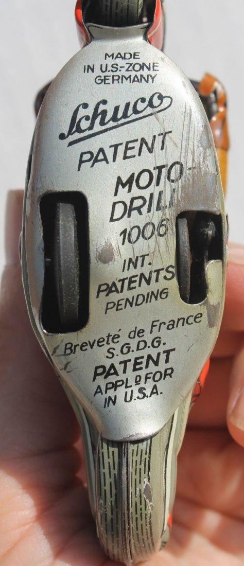 "Schuco ""Moto- Drill"" #1006 key wind tin motorcycle w - 2"