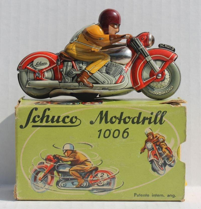 "Schuco ""Moto- Drill"" #1006 key wind tin motorcycle w - 3"