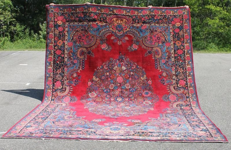 10'x13' semi-antique Persian Mashed rm size Oriental