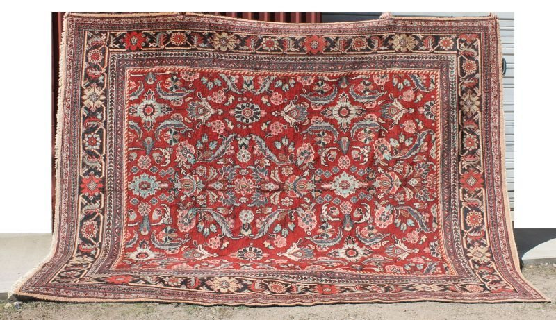 "9'3""x12'1"" antique Persian Mahal rm size Oriental rug"