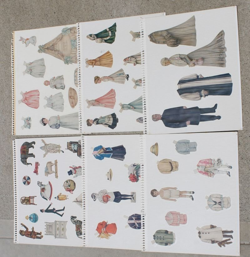 large lot of early 20thC paper dolls w accessories &