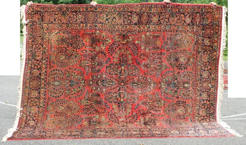 "7'8""x9'9"" Antique Persian Sarouk rm size Oriental rug"