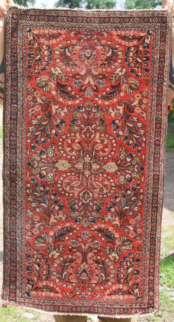 """2'1""""x3'11"""" Semi antique Persian Sarouk area rug"""