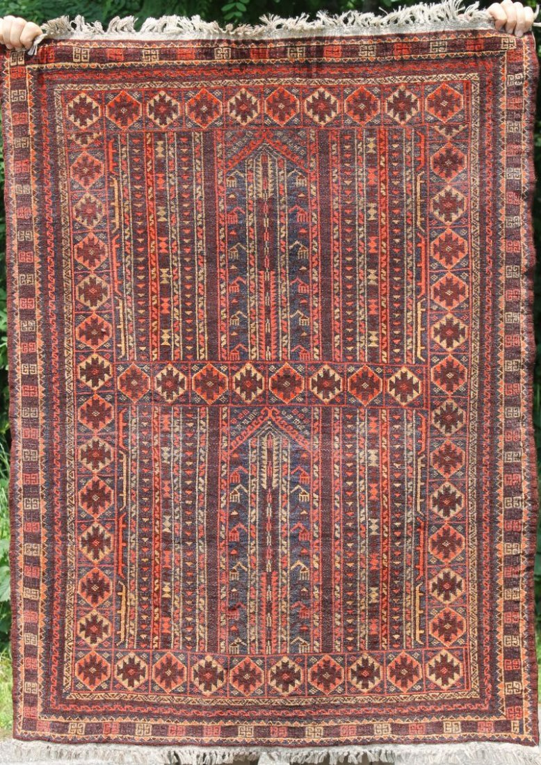 "3'3""x4'3"" fine Turkoman Tribal Oriental area rug"