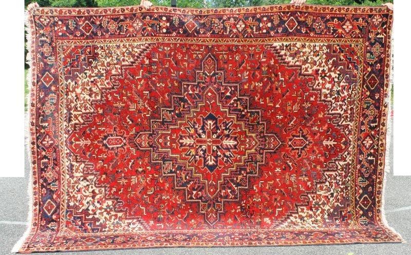 "7'5""x9'10"" semi-antique Persian Heriz rm size Oriental"