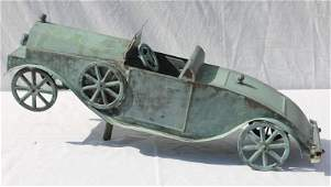 Great form mid 20th C Copper antique car form 24 34