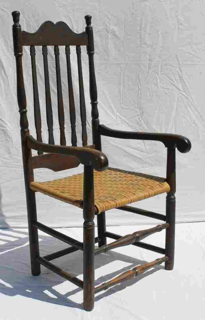 "Ca 1760 CT maple & poplar 45 3/4"" tall banister back"