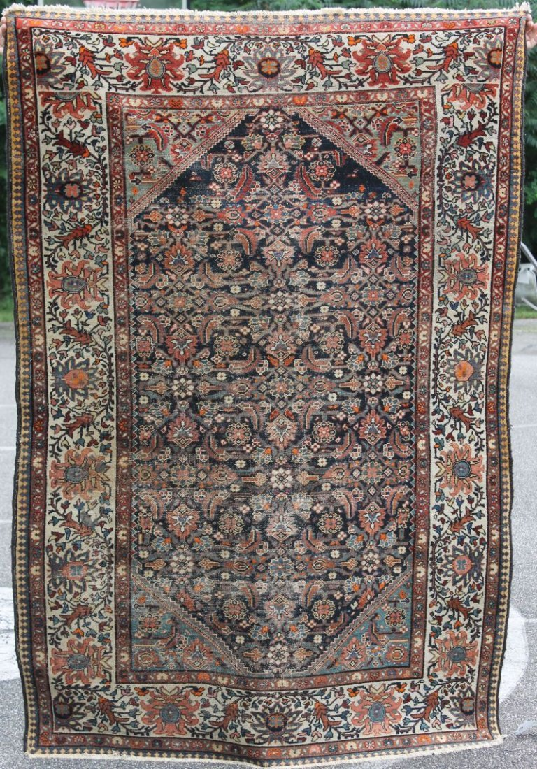 "4'5""x6'5"" antique Malayer Oriental area rug"