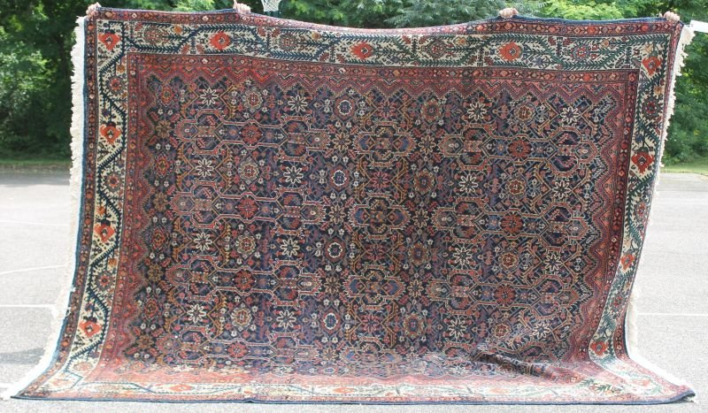 "10'1"" x 11'3"" semi-antique Persian Hamadan Oriental rm"