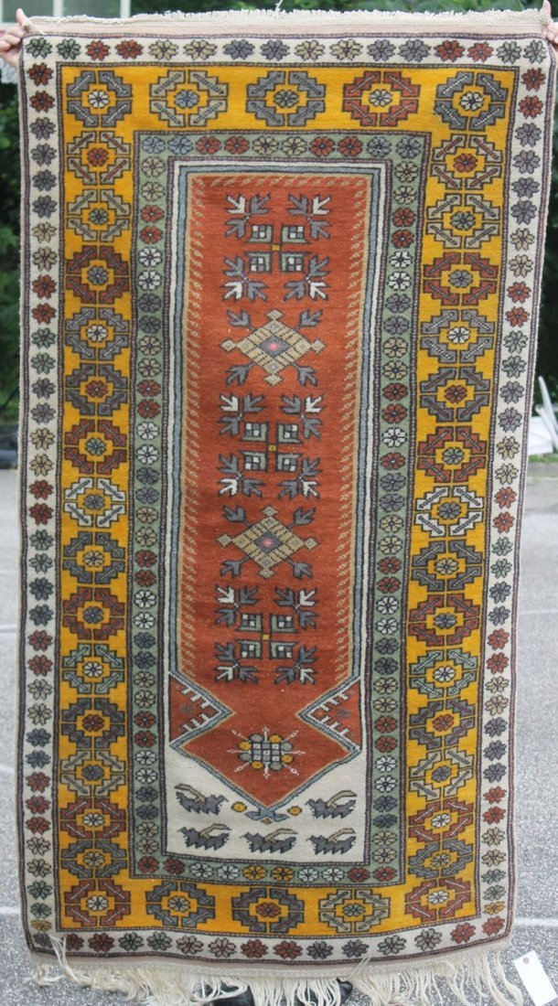 "3'7""x6'8"" semi-antique Turkish Dushmalti Oriental"