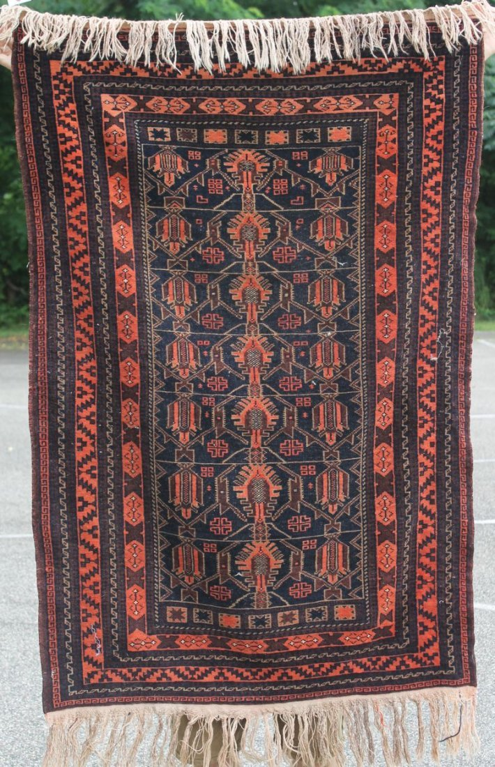 "3'x4'8"" semi-antique Balouch Oriental area rug"