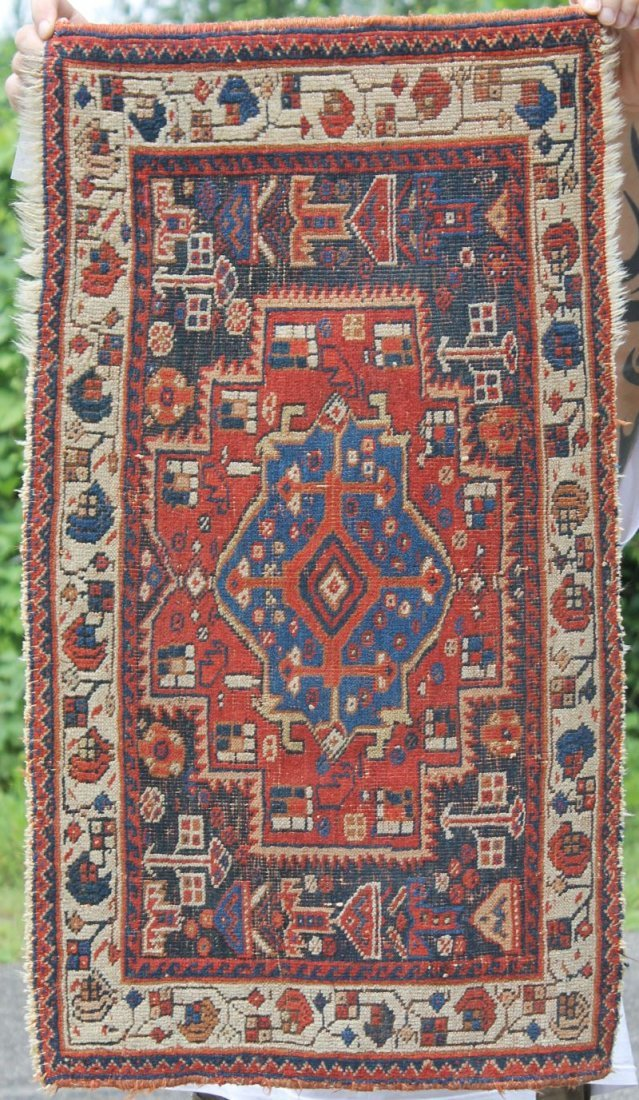 "1'7""x2'10"" antique Afshar Oriental mat"