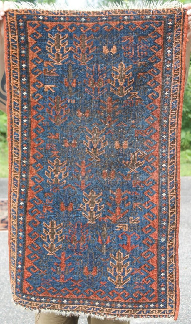 "23""x39"" antique Oriental area rug"