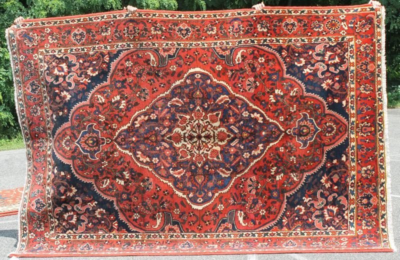 "7'x10'3"" semi-antique Persian Bakhtiari rm size"