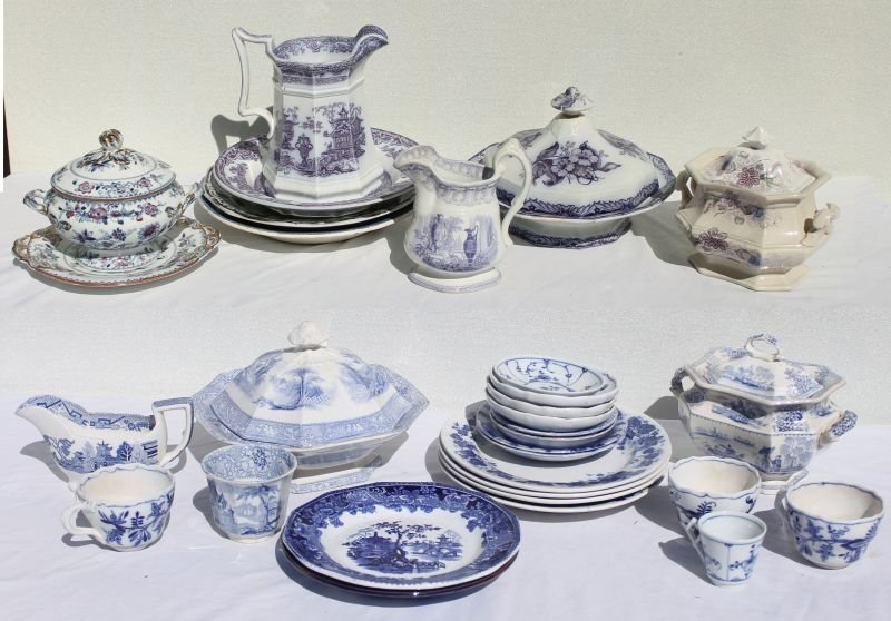large lot of 19thC approx 30 pcs mostly English, mostly