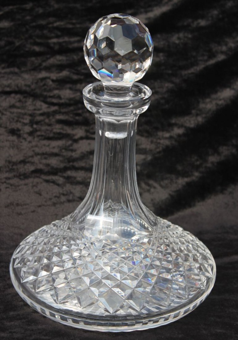 """sgnd Waterford """"Colleen"""" pattern decanter w stopper - 1"""