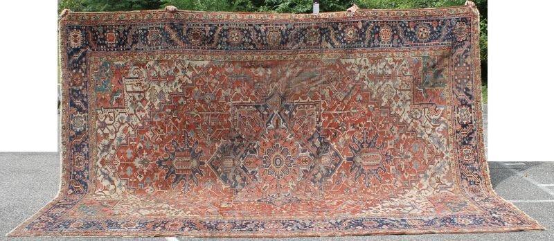 "large 9'7""x13'4"" antique Heriz Oriental room size rug"