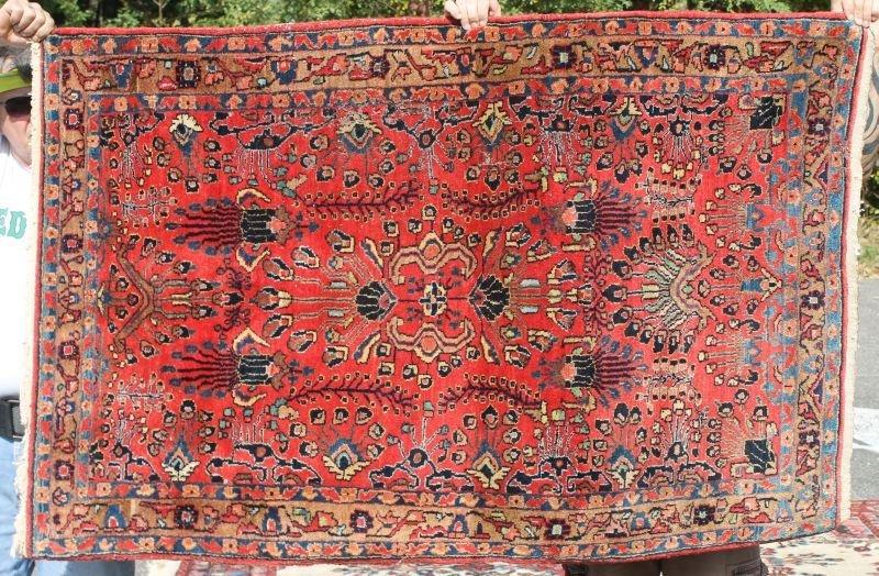 """3'5""""x5'1"""" antique Sarouk area rug"""