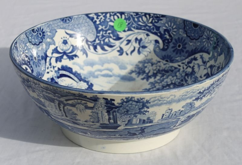 fine early 19thC Staffordshire blue & white porcelain b