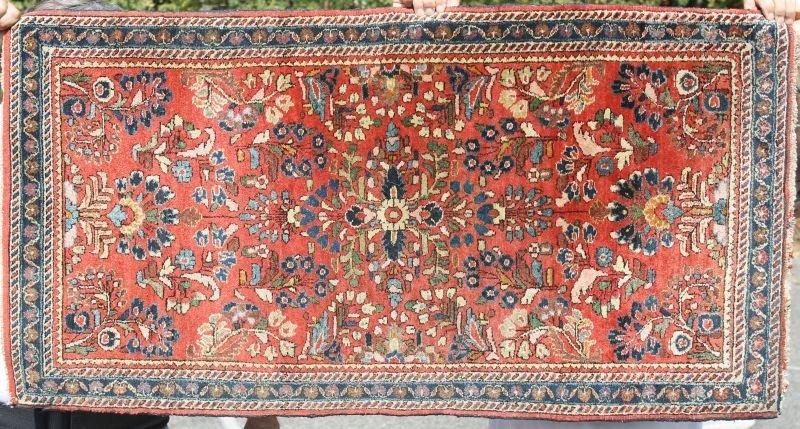"""2'2""""x4'2"""" antique Sarouk Oriental area rug"""