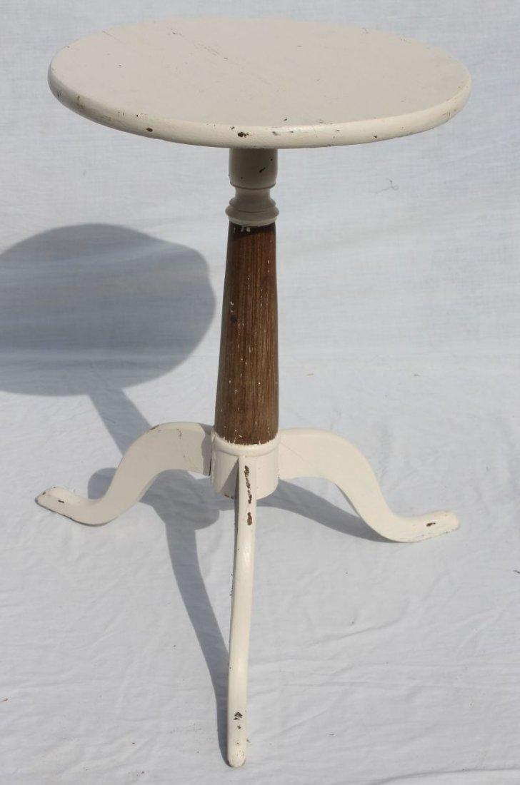 QA period rare Newport, RI cherry snake foot candlestan