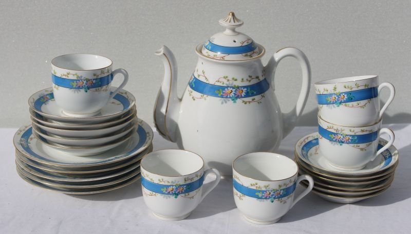 approx 20pc Paris Porcelain tea set