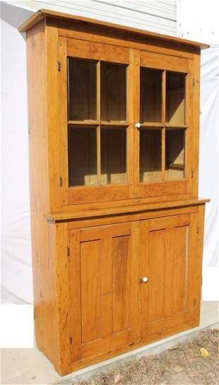 antique early pine stepback cupboard Provenance: Joan V