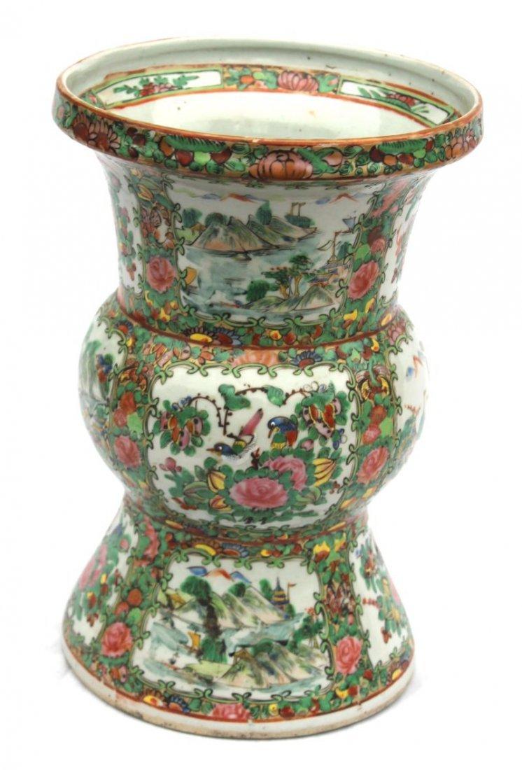 "large Ku form 19thC Famille Rose vase - 13"" tall"