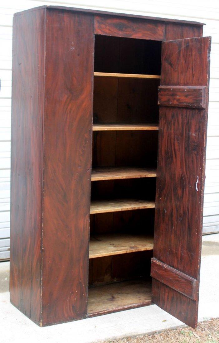 ca 1820 State of Maine black & red grain painted 1 door
