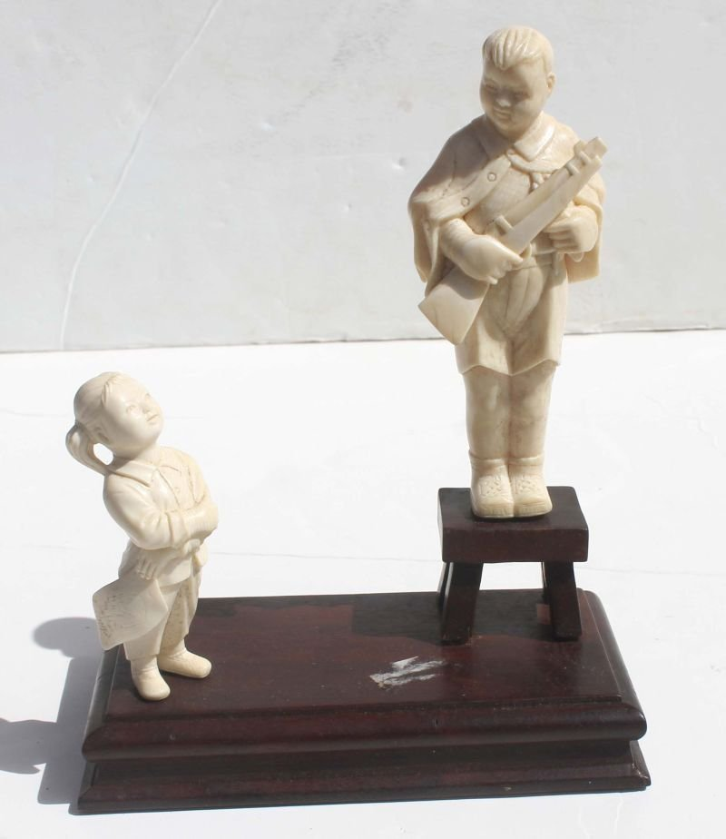 Cultural Revolution Chinese carved ivory young boy in