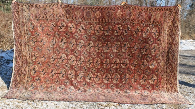 "11'9""x8' antique Tekke/Bohkara Oriental rm size rug"