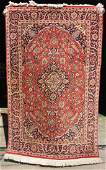 34x6 semiantique Kashan Oriental area rug