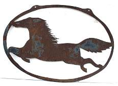 ca 1900-1920 great form graphic sheet iron New England
