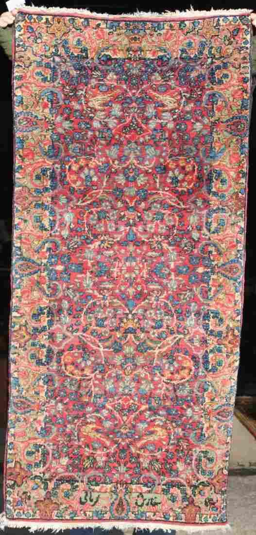 "2'3""x4'9"" semi-antique Persian Kirman Oriental area rug"