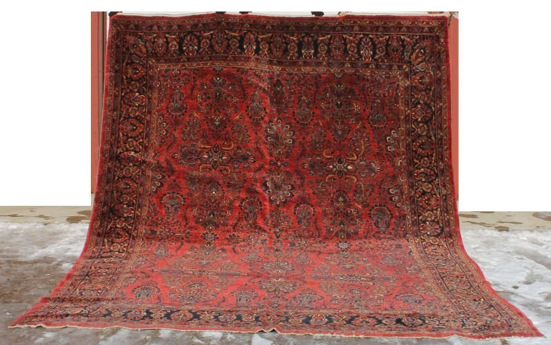 "10'2""x14'2"" antique Persian Sarouk rm size (oversize)"