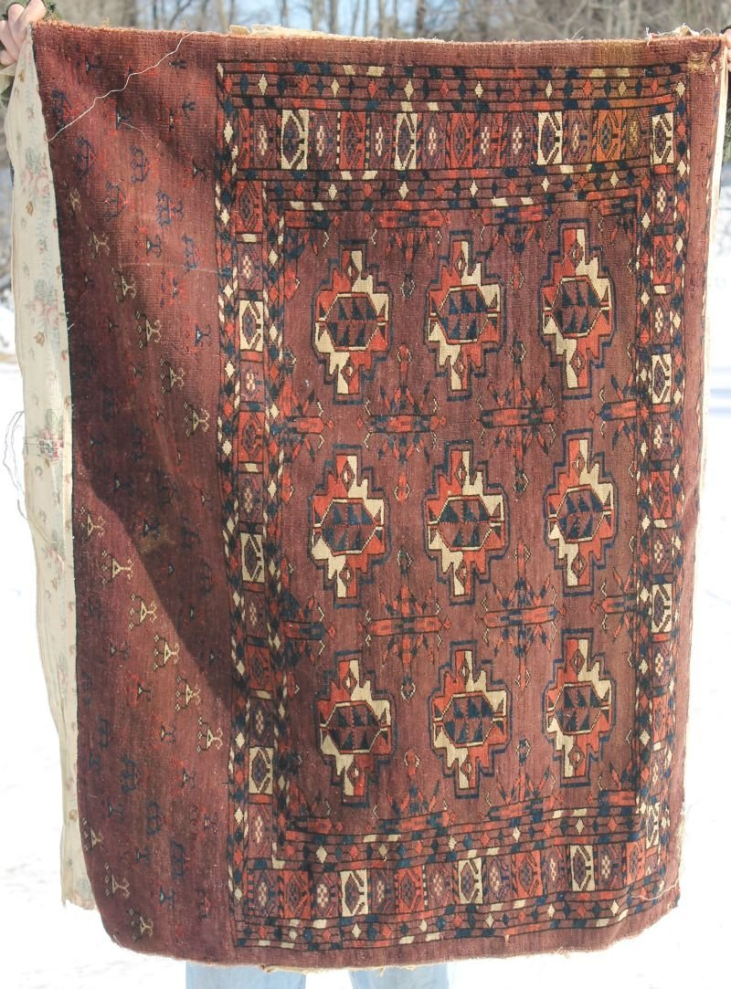 "very good antique Turkoman bagface - 33""x44"""