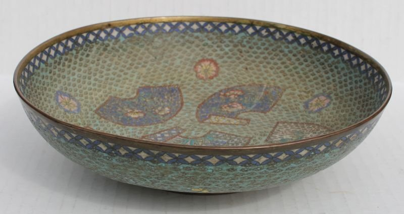"""Very early Chinese Cloisonne ftd bowl - 9 1/2"""" diam"""