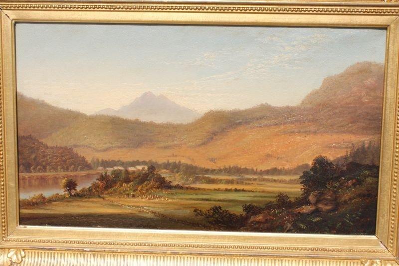 """Important William Louis Sonntag (1822-1900) 11""""x19"""" o/c"""