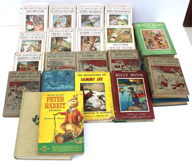 lot of 25 Thornton W. Burgess children's books incl 2